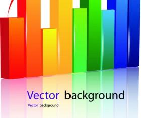 Set of Schedule Growth arrow backgrounds vector 03