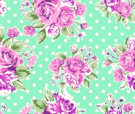 Seamless flowers pattern vector 01