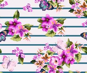 Seamless flowers pattern vector 02