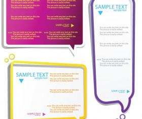 Color Hollow Speech Bubbles for text design vector 04