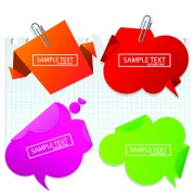 Link toSet of speech bubbles cloud labels vector 01