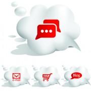 Link toSet of speech bubbles cloud labels vector 02