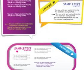 Color Hollow Speech Bubbles for text design vector 10