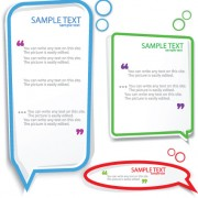 Link toColor hollow speech bubbles for text design vector 06