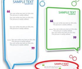 Color Hollow Speech Bubbles for text design vector 06
