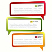 Link toColor hollow speech bubbles for text design vector 07