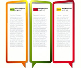Color Hollow Speech Bubbles for text design vector 08
