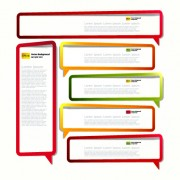 Link toColor hollow speech bubbles for text design vector 09