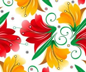 Vector set of Spring flowers pattern 01