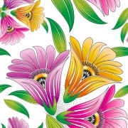Link toVector set of spring flowers pattern 03