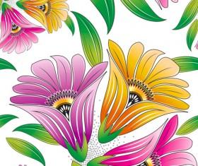 Vector set of Spring flowers pattern 03