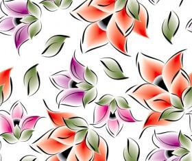 Vector set of Spring flowers pattern 04