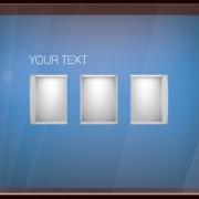 Link toElements of store window with illuminated design vector 01