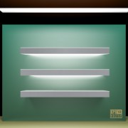 Link toElements of store window with illuminated design vector 02