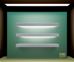 Elements of Store window with illuminated design vector 02