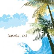 Link toSummer beach elements vector backgrounds art 03