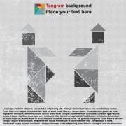 Link toVintage tangram vector backgrounds art 04