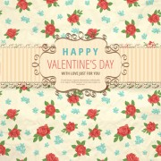 Link toFlower with valentine day background vector