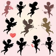 Link toValentine cupids design elements vector 01