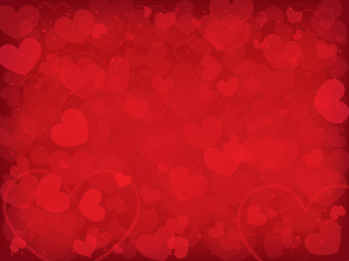 Romantic heart Valentine background free vector 01