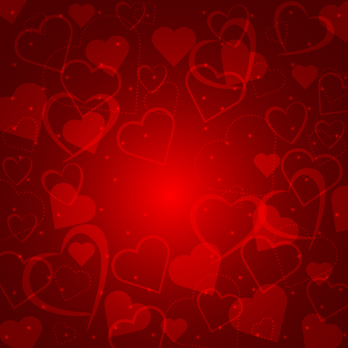 Romantic heart Valentine background free vector 04