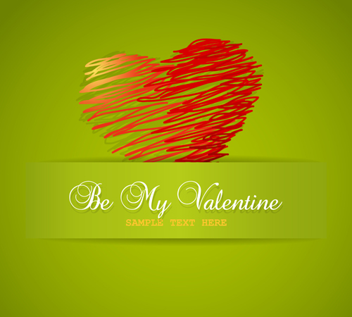 Vector Valentine day Illustration collection 04