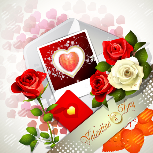 Sweet valentine day card design vector 01