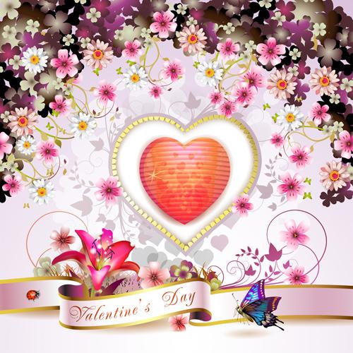 Sweet Valentine Day Card Design Vector 04