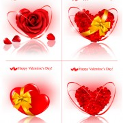 Link toShiny valentine hearts vector cards 01