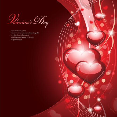 Valentines with Romantic backgrounds vector 01
