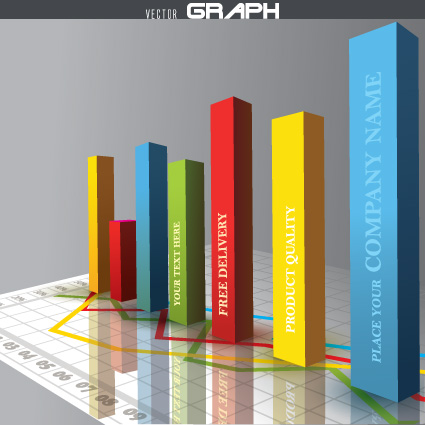 Business 3D graph vector material 03 free download