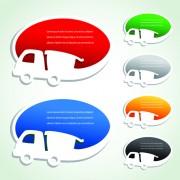 Link toTransport advertisement bubbles design vector 01