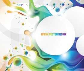 Colorful Watercolor Backgrounds vector material 03