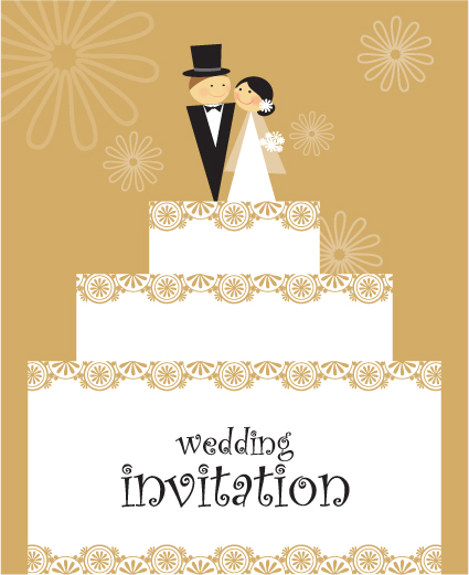 Set of Wedding Invitation cards design vector 01