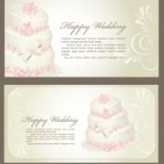 Link toSet of wedding invitation cards design vector 04