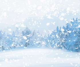 Beautiful Winter landscapes 01 vector