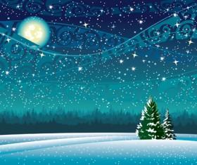Beautiful Winter landscapes 04 vector