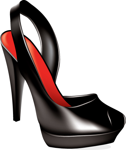 Womens High heeled shoes with Cosmetic vector 02