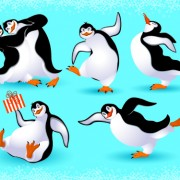 Link toLovely animals in winter design vector set 02