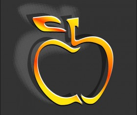 Creative apple Vector illustration set 04