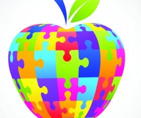 Creative apple Vector illustration set 05
