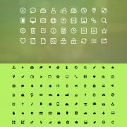 Link toBlack and white mini web icons set