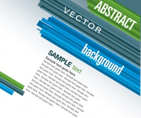 Set of colored Abstract vector backgrounds art 03
