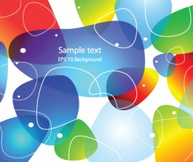 Set of colored Abstract vector backgrounds art 04