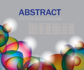 Set of colored Abstract vector backgrounds art 05