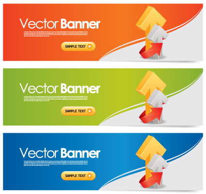 Elements of Colored banner design vector 02 - Vector Banner free ...