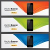 Elements of Colored banner design vector 03
