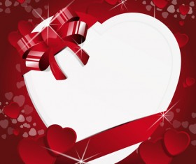 Valentine Day Background with hearts vector 01