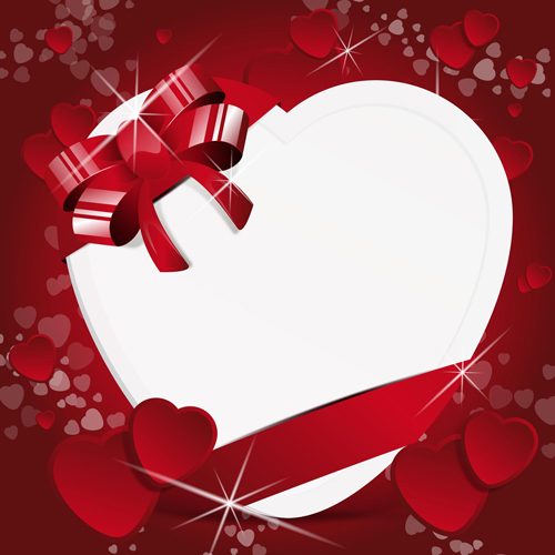 Valentine Day Background With Hearts Vector 01 Free Download