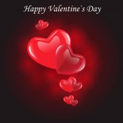 Link toValentine day background with hearts vector 02
